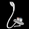 INAX シャワーホースの交換方法と費用、外れない?外し方(カクダイ 366-900-W)